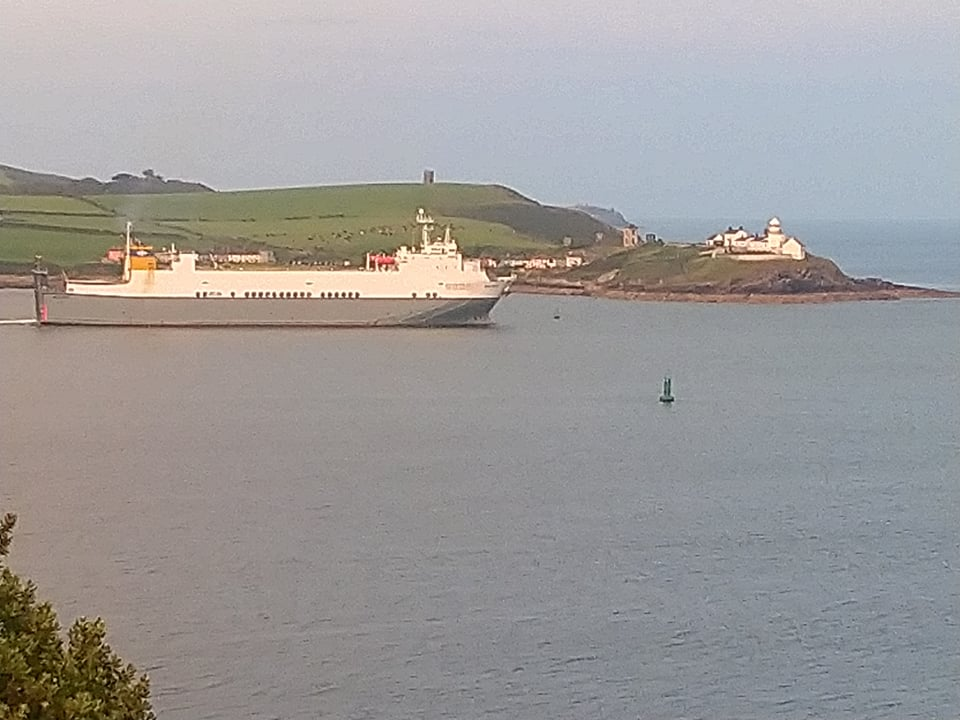 Leaving the Port of Cork